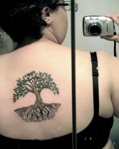 The tree on my back...
