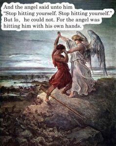 Ah... the joys of theological thuggery...