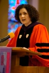 Dr. Lallene Rector, first woman and layperson to be elected President of Garrett-Evangelical Theological Seminary in Evanston, IL.